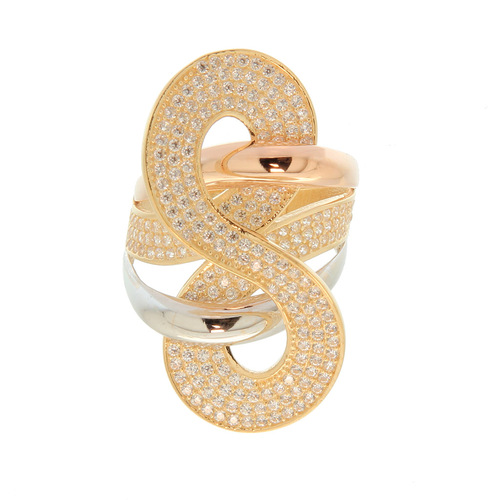 Bague motif infini pavage  en Or 750 / 1000 (18K)
