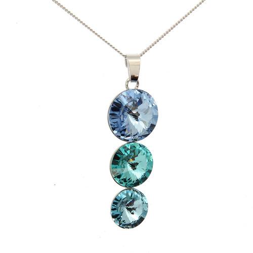 Collier motif Swarovski  en Argent 925 /1000
